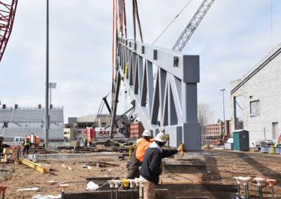 New UWL Fieldhouse 2021 • Truss raising